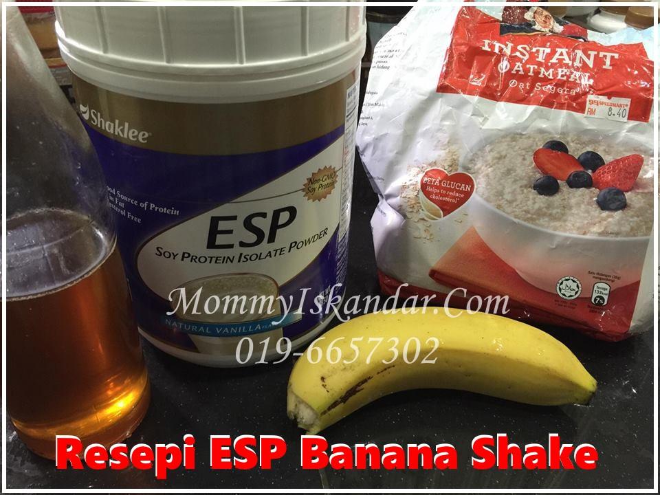 Resepi ESP Banana Shake Yang Sedap