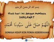 kelebihan berselawat ke atas nabi muhammad s.a.w
