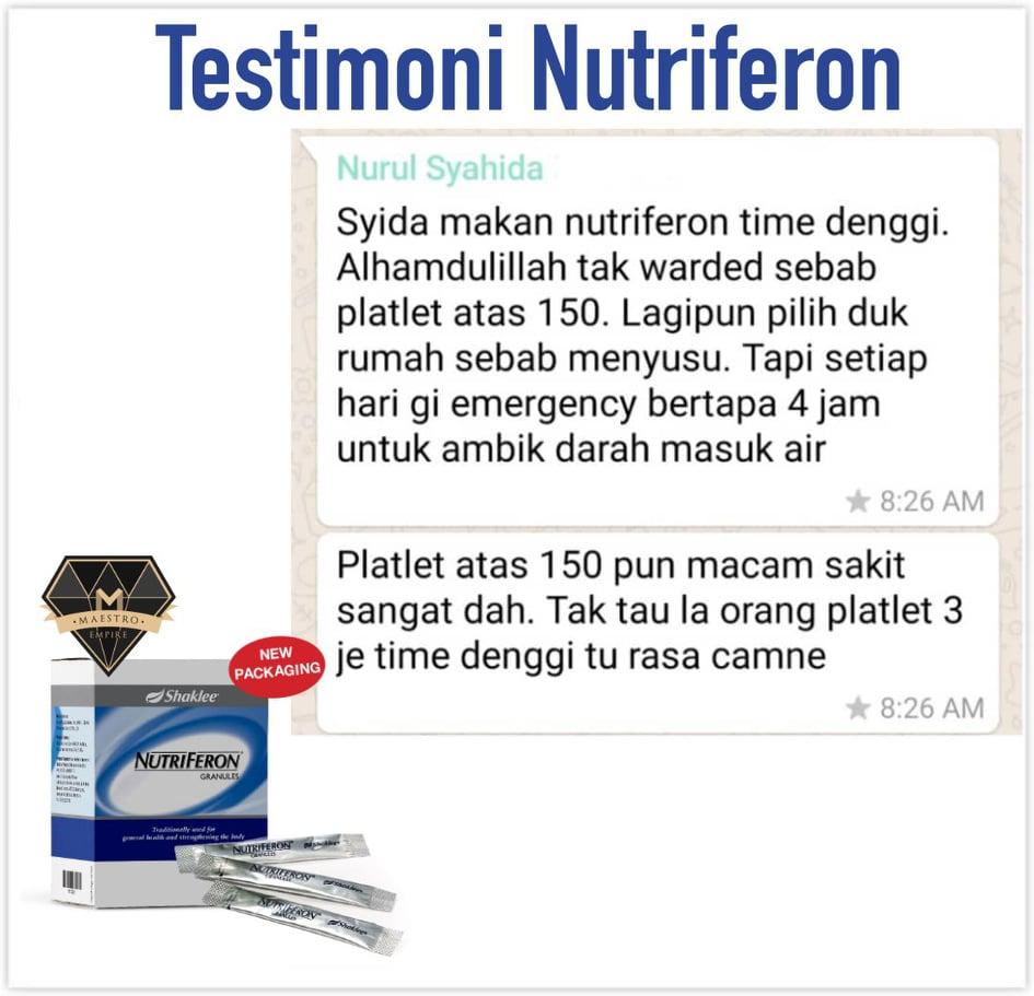 testimoni nutriferon